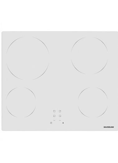 Silverline VC5355W01 4 Gözlü 60 Cm Elektrikli Beyaz Cam Ankastre Ocak Renkli